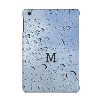 """Raindrops"" custom monogram device cases iPad Mini Case"
