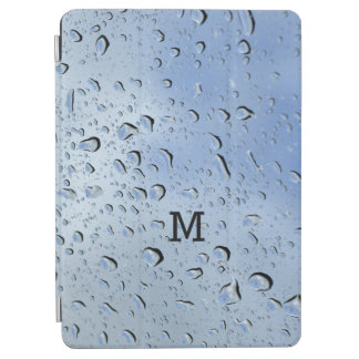 """Raindrops"" custom monogram device covers iPad Air Cover"