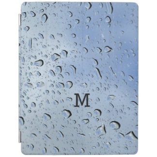 """Raindrops"" custom monogram device covers iPad Cover"