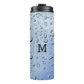 """Raindrops"" custom monogram tumbler"