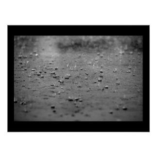 Raindrops in a Thunderstorm Poster