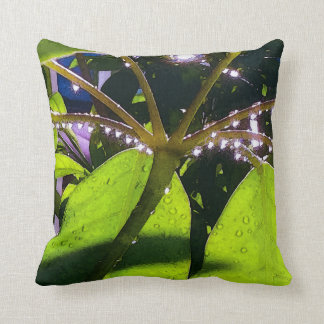 Raindrops in Sunlight Throw Pillow