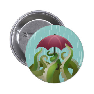 Raindrops: Lime 2 Inch Round Button