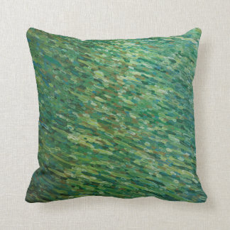Raindrops On A Lake Beach Coastal Pillow by Juul