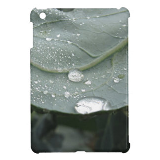 Raindrops on cauliflower leaves iPad mini cases