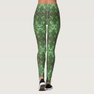 Raindrops on Evergreen Pattern 11 Leggings