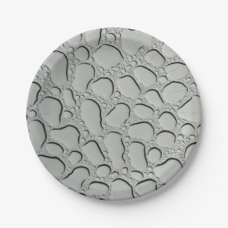 Raindrops on Glass Roof Paper Plate