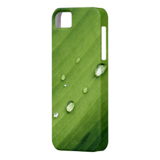 Raindrops on Green Leaf Dew Droplets Nature Art Case For The iPhone 5