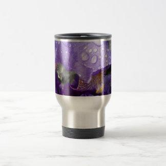 raindrops on iris travel mug