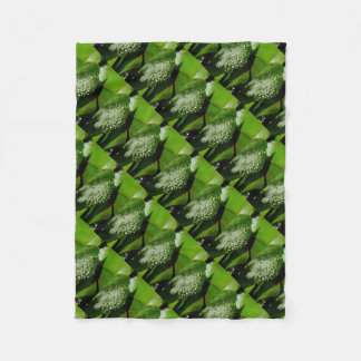 RAINDROPS ON LEAF QUEENSLAND AUSTRALIA FLEECE BLANKET