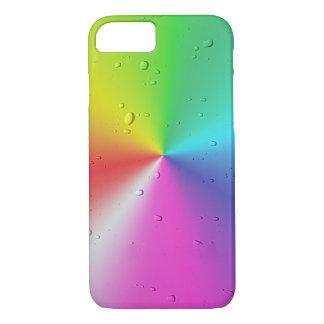 raindrops on rainbow spectrum iPhone 8/7 case