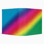 Raindrops on Rainbows Vinyl Binder