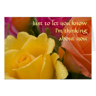 Raindrops on Roses Thinking of You Card