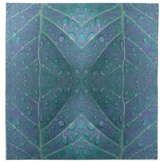 Raindrops Pattern in Blue Napkin
