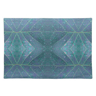 Raindrops Pattern in Blue Placemat