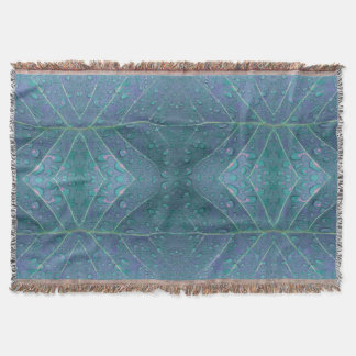 Raindrops Pattern in Blue Throw Blanket