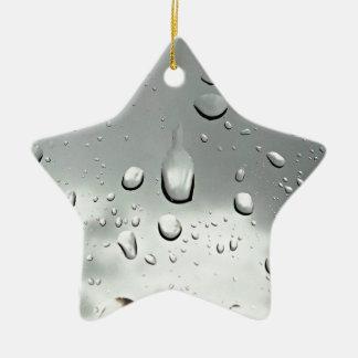 Raindrops Photography Ceramic Ornament