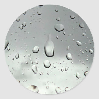 Raindrops Photography Classic Round Sticker