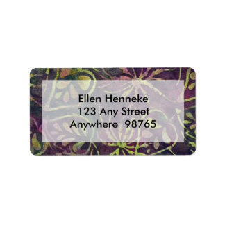 Rainforest Batik Label