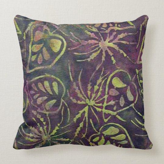 Rainforest Batik Throw Pillow