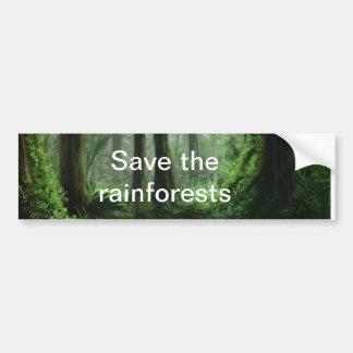 rainforest bumper sticker