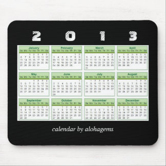 Rainforest Green 2013 Calendar Mousepad