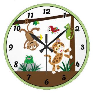 Rainforest Jungle Clock