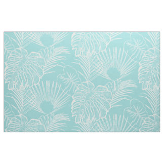 Rainforest Jungle Leaf Leaves Modern Simple Lines Fabric
