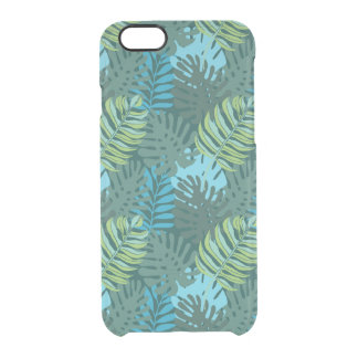 Rainforest Jungle Leaf Pattern Clear iPhone 6/6S Case