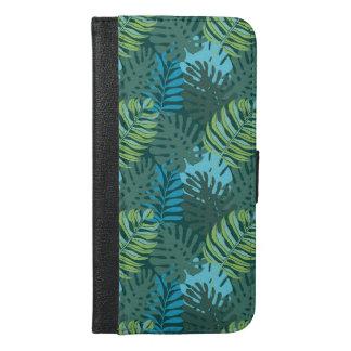 Rainforest Jungle Leaf Pattern iPhone 6/6s Plus Wallet Case