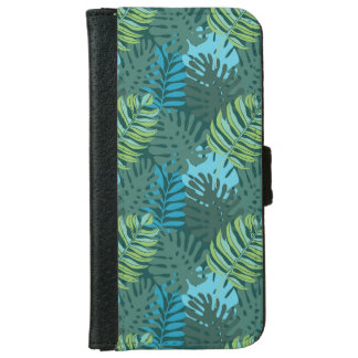 Rainforest Jungle Leaf Pattern iPhone 6 Wallet Case