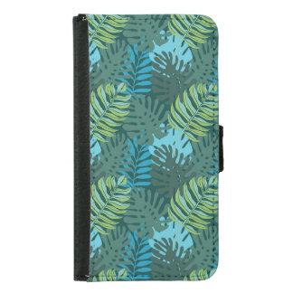 Rainforest Jungle Leaf Pattern Samsung Galaxy S5 Wallet Case