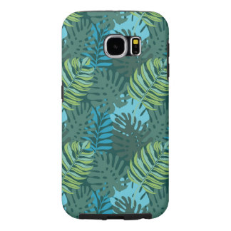 Rainforest Jungle Leaf Pattern Samsung Galaxy S6 Cases
