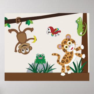 Rainforest Jungle Nursery Poster