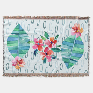 Rainforest Regalia Throw Blanket