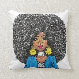 rainha preta/ black king throw pillow