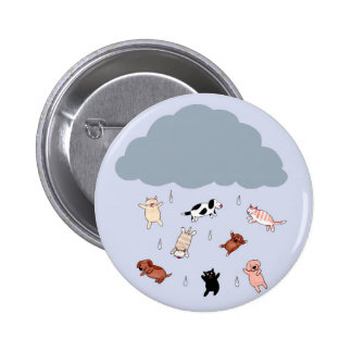 Raining Cats an Dogs 2 Inch Round Button
