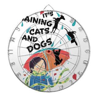 Raining Cats And Dogs Dartboard