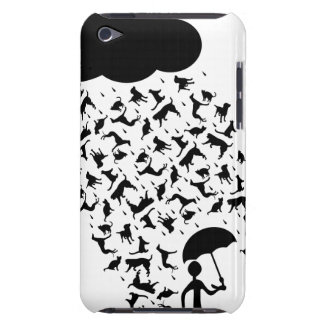 raining cats and dogs iPod Case-Mate case