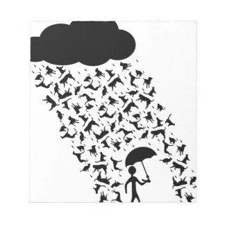 Raining Cats and Dogs Notepad