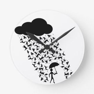 raining cats and dogs round clock