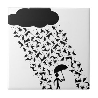 Raining Cats and Dogs Tile
