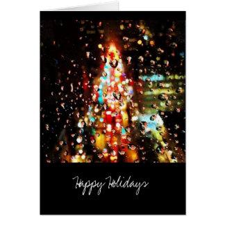Raining City Lights Holiday Card