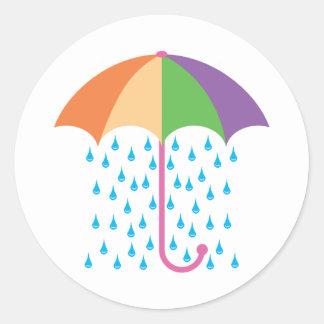 raining classic round sticker
