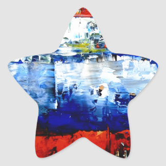 Raining in Battersea Star Sticker