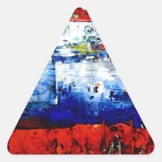 Raining in Battersea Triangle Sticker