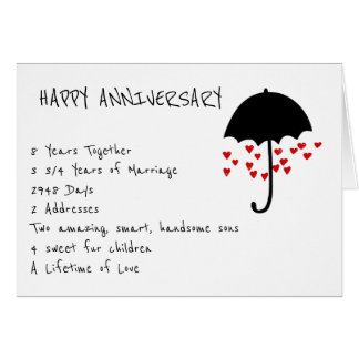 Raining Love Anniversary Card