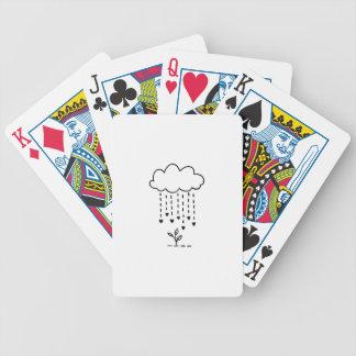 Raining love bicycle playing cards