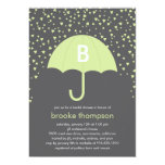 Raining Love Bridal Shower Invitation (Green)