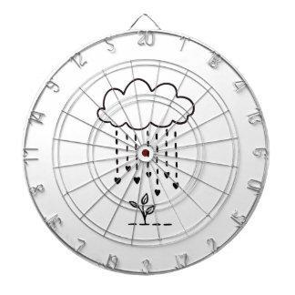 Raining love dartboard